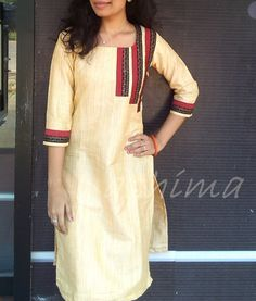 Silk Cotton Kurta-Code:2209152 Price INR:790/- All sizes available. Free shipping to all courier destinations in India. Online payment through PayUMoney / PayPal
