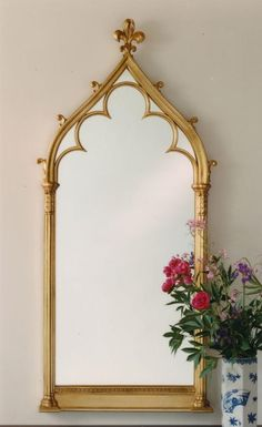 Okay, this works. The lovely Gothic arch, but simple, and NOT Victorian. Victorian Architecture, Decor, Gothic Design, Victorian Mirror, Modern Gothic, Mirror Designs, Gothic House, Architectural Pieces, Mirror