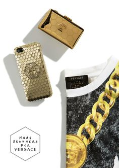 Glossy gold honeycomb is one of the central themes for the Haas Brothers for Versace ready to wear and accessories collection. Discover the unique pieces sure to bolster any wardrobe with luxury design.#VersaceHome