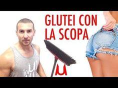 Glutei e Gambe sode con una Scopa! Programma 50 ripetizioni - YouTube