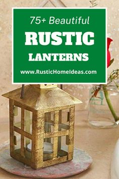 Rustic lanterns are a great accessory to decorate with and add a charming touch at a very low cost. View our large selection of styles, sizes and finishes. Find the perfect one for your design. Rustic Lanterns, Are You The One, Home Accessories, Good Things, Touch, Beautiful, Design, Decor, Decoration