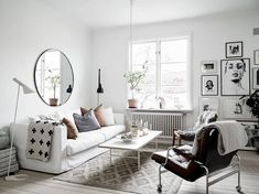 Bright Scandinavian living room, gallery wall idea. Are you looking for unique and beautiful art photo prints to create your gallery walls? Visit: bx3foto.etsy.com and follow us on Instagram: @bx3foto
