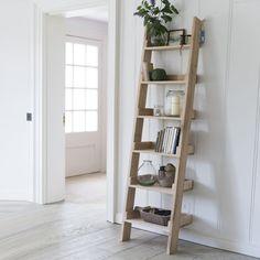 Bibliothèque échelle en chêne 6 niveaux Hambledon -PM