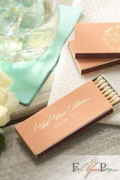 Elegant match box favors that your wedding guest would absolutely love! Order online from ForYourParty.com, customize to match your celebration theme.