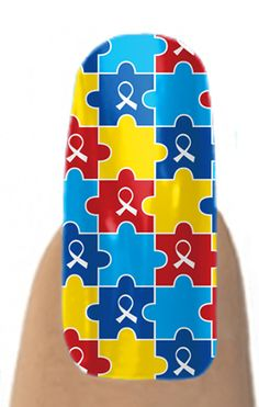 Autism awareness nail shields available at Jamberry nails.  go to www.nailapparel.com  Each set of shields (enough for 2-3 manicures) is $15.00 and raises $2.00 for autism awareness.  : )
