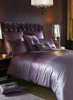 Kylie at Home Sienna Amethyst Bed Linen