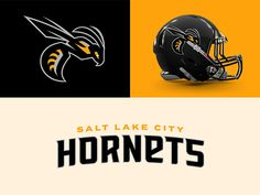 Salt Lake City Hornets designed by CJ Zilligen. Connect with them on Dribbble; the global community for designers and creative professionals. Pro Football Teams, Football Helmets, Football Rooms, Logo Basketball, Football Uniforms, Sports Uniforms, Sports Teams, Purple Haze, Sports Brands