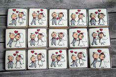 Cake Cookies, Sugar Cookies, Wedding Dress Cookies, Cartoon Cookie, Engagement Cakes, Cookie Decorating, Wedding Inspiration, Wedding Ideas, Cookie Recipes