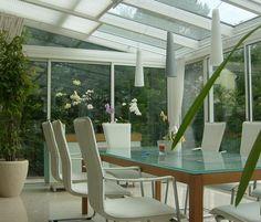Schon Moderner Wintergarten Aus Holz Alu Mit Weiträumig öffenbaren Schiebetüren
