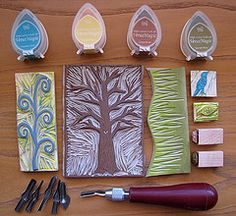 Hand-carved stamps by Regina Lord