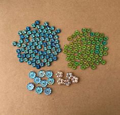 Aqua Mosaic Transparent Sparkle Venetian Glass Lampwork Round Bead  2