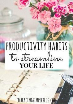 Implement these Productivity Habits to Streamline Your Life to feel more empowered. You will have more time and energy to devote to what you truly love! { this will definitely help to make yourself a better and more neat of a person } Planners, Essayist, Productivity Hacks, Increase Productivity, Stress, Time Management Tips, Self Development, Personal Development, Business Tips