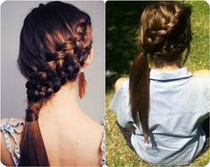 Braided side ponytail. Possible prom material.