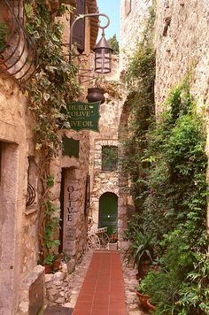 "EZE, FRANCE - Enjoy sweeping Mediterranean views in this town on the French Riviera, described as an ""eagle's nest"" because it's perched so high up on a cliff. The city is centuries-old, with the first building in the village dating back to the early 1300s"