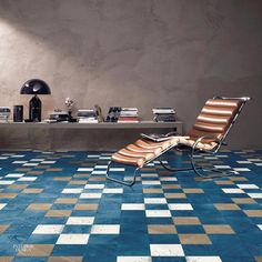 Subtle flora accents bring additional life to Bisazza's oak parquet floor, Outside