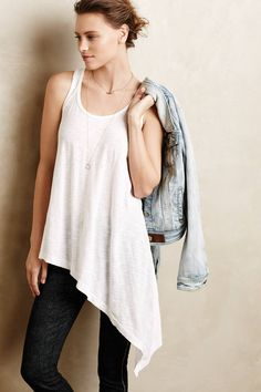 Biased Scoop Tank by Left of Center - Found on HeartThis.com @HeartThis | See item http://www.heartthis.com/product/447600834604694614?cid=pinterest