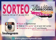 SORTEO DOBLE DEL VERANO: TALLERES DE SCRAPBOOKING!! Mini Albums, Prize Draw, Atelier, Summer Time