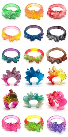 Kate Rohde, one-off resin bangles and cuffs.