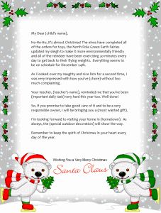 This printable letter from santa is intended for christian families this printable letter from santa is intended for christian families and mentions the birth of jesus and asks for a prayer that rudolph guides santa spiritdancerdesigns Images