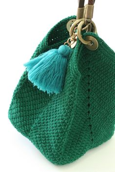 """New Cheap Bags. The place where construction meets design, beaded crochet is the act of using beads to embellish crocheted items. """"Crochet"""" is derived from the French croc Crochet Handbags, Crochet Purses, Crochet Bags, Handmade Handbags, Handmade Bags, Love Crochet, Knit Crochet, My Bags, Purses And Bags"""