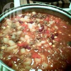 Foto da receita: Sopa de carne com feijão e legumes
