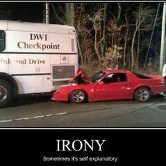 Irony...sometimes it's self explanatory.