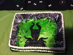 Silhouette maleficent cake