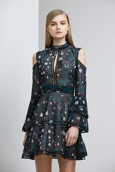 Keepsake Night Dance LS Mini Dress