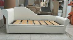 Chaise longue in versione doppio letto...dotata di favoloso meccanismo con rete a doghe larghe!