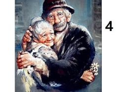 DIY Full Drill Diamond Painting Older Couples Art Cross Stitch Mosaic Kits Couples Âgés, Vieux Couples, Older Couples, Mosaic Kits, Image Digital, Growing Old Together, Norman Rockwell, Oeuvre D'art, Illustration Art