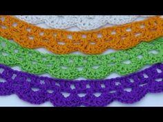 Crochet. Puntilla  tejida a ganchillo 1
