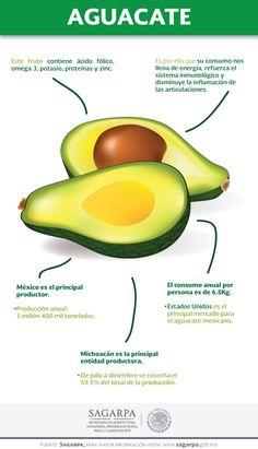 Este fruto contiene ácido fólico, omega 3, potasio, proteínas y zinc. SAGARPA SAGARPAMX