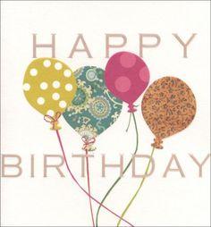 Birthday card - 'Colourful Balloons'