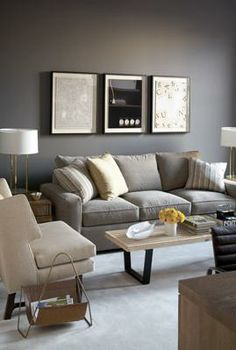 Love the tri-image look over the couch... need to do something similar for the large wall above the couch.