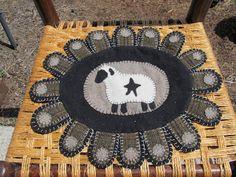 Wool penny rug.