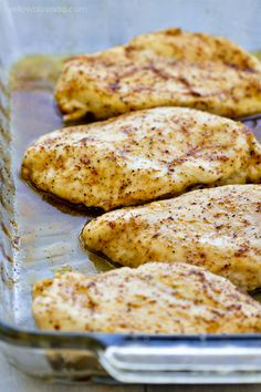 Learn how to make the most flavorful, tender and juicy chicken breasts - no more dry chicken! With a five minute prep time and just 20 minutes in the oven, you'll have this dinner on the table in less than 30 minutes. via @yellowblissroad