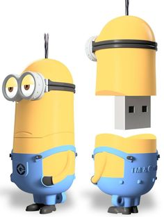 Gift idea: Despicable Me Minions Kevin USB Flash Drive Electronics Gadgets, Technology Gadgets, Tech Gadgets, Cool Gadgets, Usb Drive, Usb Flash Drive, Accessoires Iphone, My Minion, Usb Hub