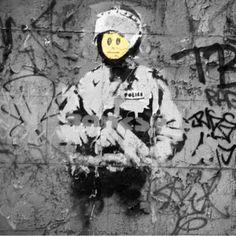 Banksy - Riot Cop Art Print