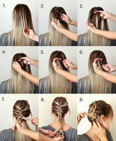 Coiffure facile et rapide – Tresse facile | coiffure simple
