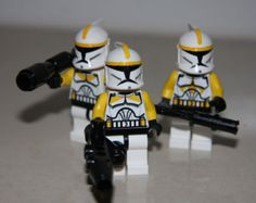 LEGO STAR WARS CUSTOM YELLOW CLONE TROOPERS MINIFIGS picture