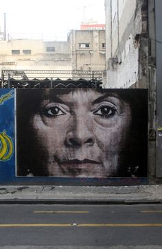 "No Touching Ground – Susana Trimarco New Mural @ Buenos Aires, Argentina She has the ""thin-lipped look"" of my mom when I was naughty!"