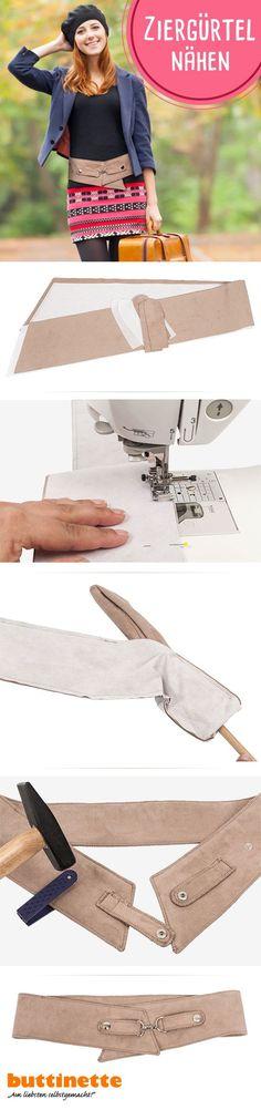 #Gürtel #Ziergürtel #DIY #Nähen #Schnittmuster #kostenlos #Tutorial #Belt #