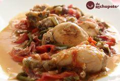 No podía faltar en el blog, el tradicional pollo al chilindrón, un homenaje a la gastronomía aragonesa http://www.recetasderechupete.com/pollo-al-chilindron/13127/