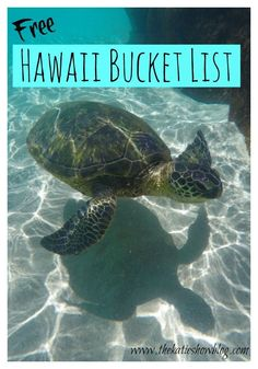 Make the most of your time in Hawaii with this FREE Hawaii Bucket List full of adventures and things to see and do! #HawaiiHoliday