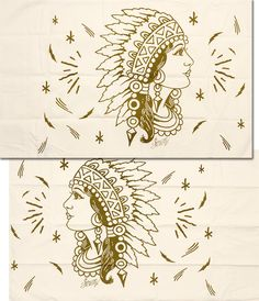 SAILOR JERRY INDIAN HEAD PILLOW CASES  Looking for bedroom decor that fits your old school aesthetic? This pair of Sailor Jerry pillow cases are sure to compliment your throw back style. Featuring original SJ artwork, these Indian Headdress adorned beauties have their feathers blowing in the wind. Printed on 210 thread count cotton, this set comes with a right and left facing pillowcases. $38.00 #sailorjerry #housewares #tattooflash #indian