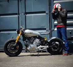 @caferacergram by CAFE RACER #caferacergram # Virago sent in by Thomas Strohm #virago #viragocaferacer #yamaha #yamahacaferacer #caferacer #caferacers | See more at facebook.com/caferacers