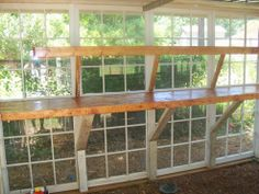 Hometalk -- Old windows repurposed into an amazing greenhouse!!