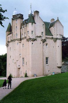 Craigievar Castle - Aberdeenshire, Scotland. Built in 1626 by William Forbes.