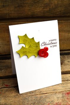Merry Christmas To You Card by Jess Witty for Papertrey Ink (October 2012) #christmas #holidaycard