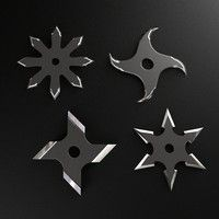 Shuriken Throwing Star Model available on Turbo Squid, the world's leading provider of digital models for visualization, films, television, and games. Shuriken, Leather Knife Sheath Pattern, Ninja Japan, Armas Ninja, Design 3d, Ninja Star, Ninja Weapons, Camping Gifts, 3d Models